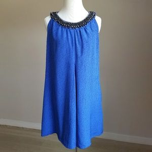 Anthropologie Gryphon Deepest Fathoms Blue Dress